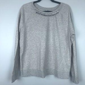 Old Navy Grey Rhinestone Sweatshirt Size Large